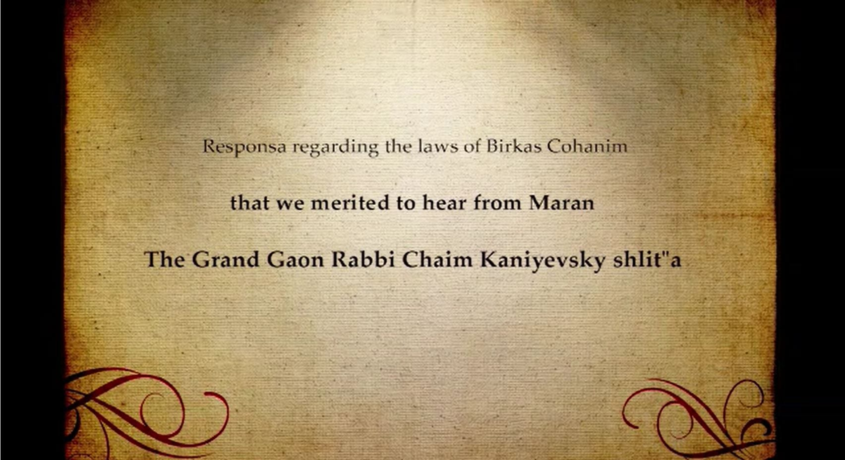 Q&A on Birkas Cohanim